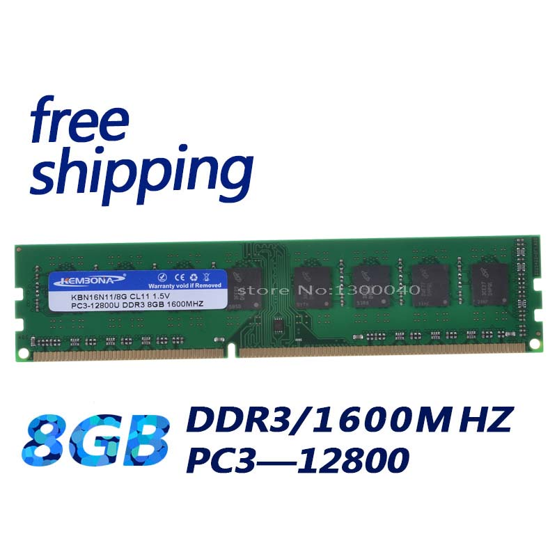 KEMBONA desktop memory RAM DDR3 8GB 1600MHz PC3-12800 Non ECC 240 Pin DIMM memoria only for A-M-D motherboard