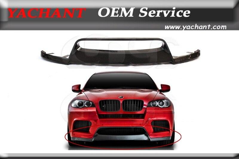 Автомобиль-Стайлинг супер легкий сухой углерода Волокно плотная ткань передний бампер губы подходит для 2008-2013 E70 x5m e71 X6M VRS Стиль спереди для ...