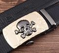 2017 new leather bag embossed skull automatic buckle belt belt men belt