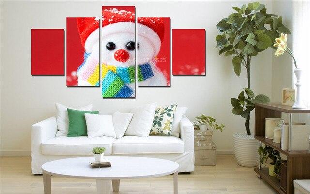 Фото 5 шт рождественская птица холст картина настенная живопись домашний цена