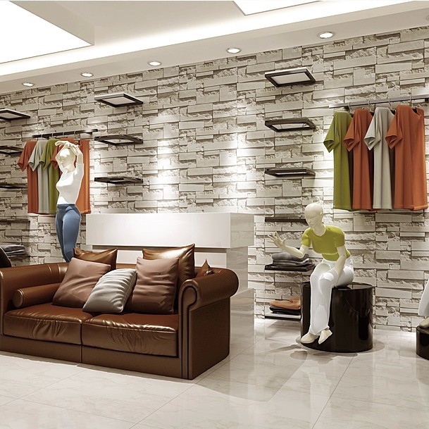 3d Brick Effect Home Depot Brick Wallpaper Pintar Paredes Salon Great Decoracion Salon Moderno With