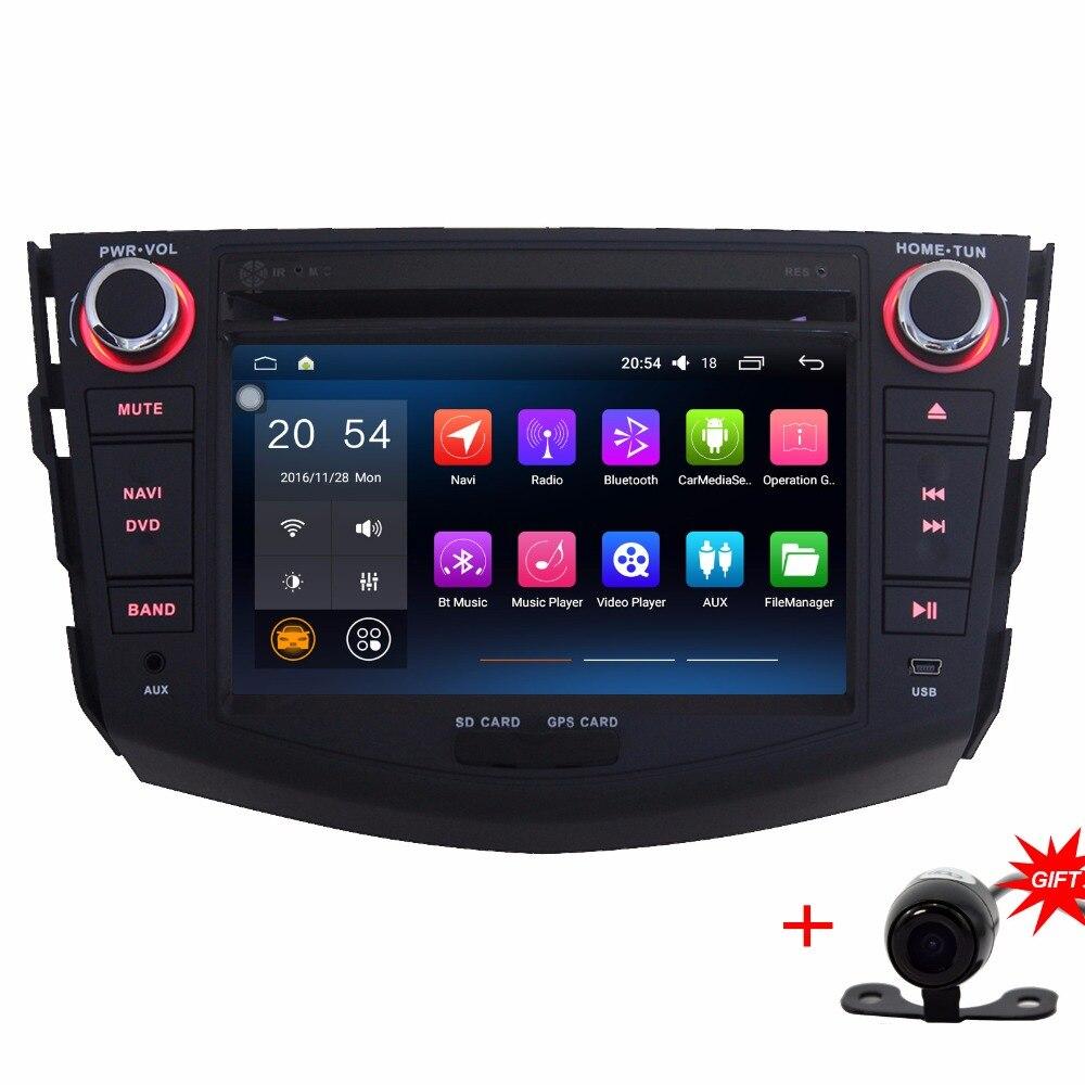 "Quad Core 7"" Likebuying 1024*600 2Din Android 4.4.4 Autoradio For Toyota RAV4 2007-2012 GPS Navigation Double Din Radio Car BT"