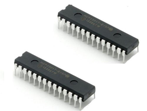 2 pcs MCP23017-E/SP MCP23017 DIP28 16-Bit I/O Expander with I2C Interface IC NEW запонки mitya veselkov сложные узелки