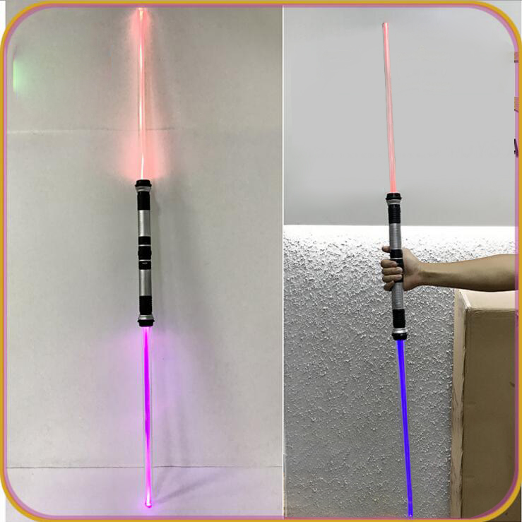 2PCS Star Wars The Last Jedi Weapons Lightsaber Cosplay Toy With Sound Light Led Kylo Ren Luke Laser Light Saber Lamp Blue Green dark journey star wars the new jedi order