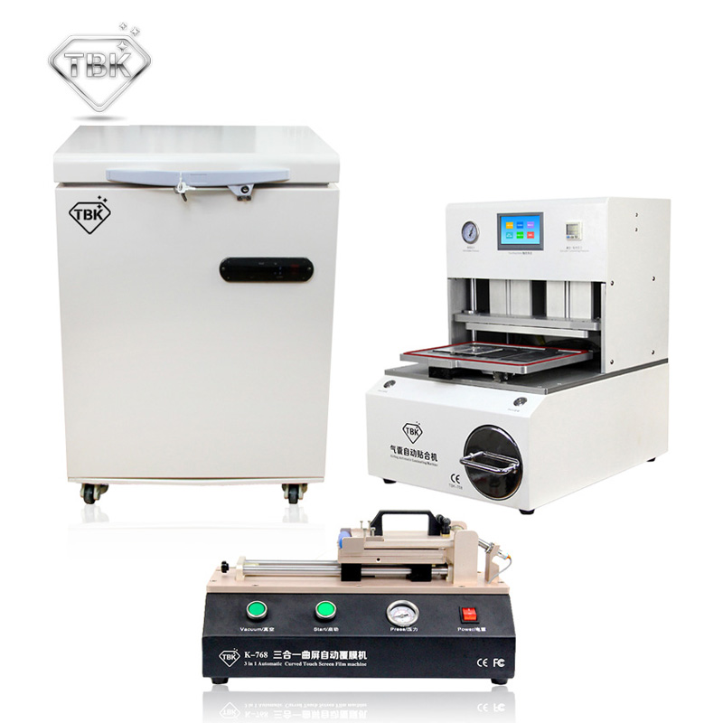 лучшая цена LCD Touch Screen Frozen Separator +TBK-708 Automatic Laminating Machine+TBK-768 OCA Film Laminating Machine
