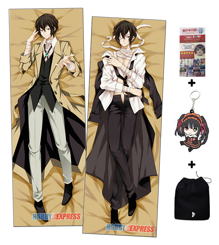 New Osamu Dazai - Bungo Stray Dogs Anime Dakimakura Japanese Hugging Body Pillow Cover H09879