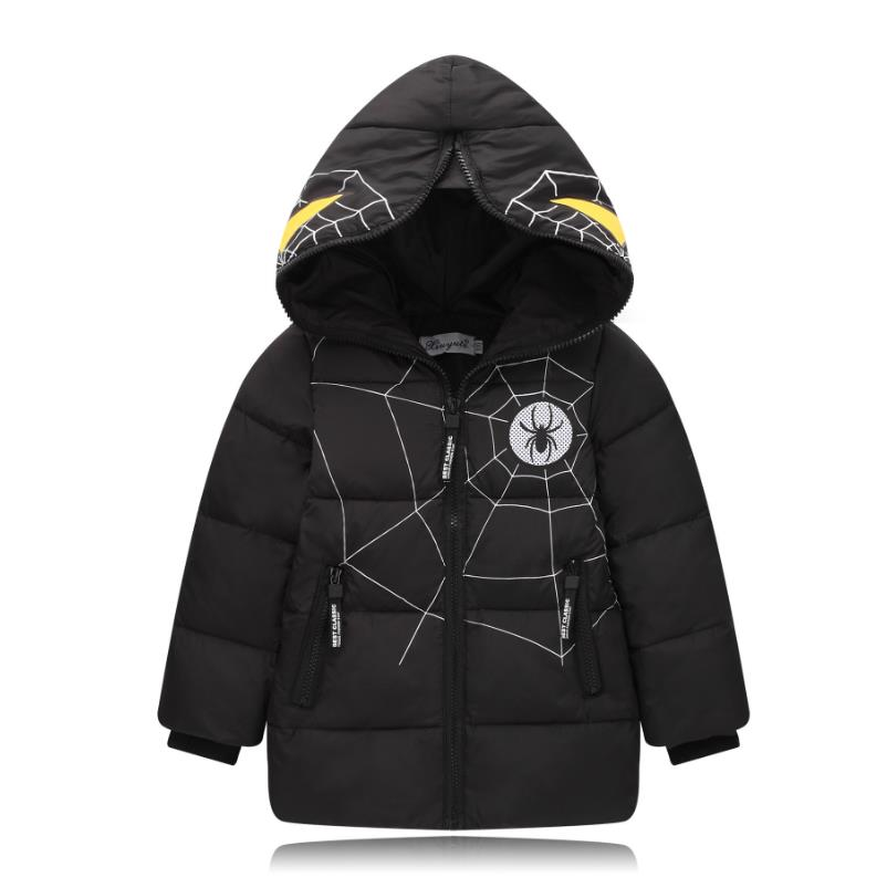 8a95635e8b94 2017 Boys Blue winter coats   Jacket kids Zipper jackets Boys thick ...