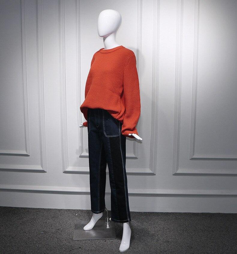 b8394708a4ed E Attrice Set Colore pant Sets Ago 2018 Abbigliamento Cinese Caramello  Maglioni Allentato Nuovo sweater 2pcs Maglie Pullover Donna ...