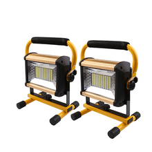 2pcs 100W Flood Light  LED Portable Light Rechargeable Camping Light with charger 18650 Outdoor Home Emergency Light цены
