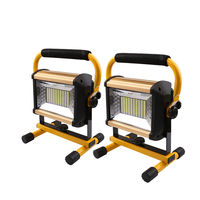 2pcs 100W Flood Light LED Portable Light Rechargeable Camping Light with charger 18650 Outdoor Home Emergency Light