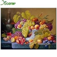 5D Diamond Embroidery Rhinestone Pasted Diy Diamond Painting Cross Stitch Kits Grape Fruit Diamond Mosaic Room