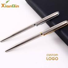 Xianqin металлическая шариковая ручка 0,7 мм синяя черная Роскошная рекламная подарочная ручка для канцелярские принадлежности для школьников, студентов, офисные принадлежности