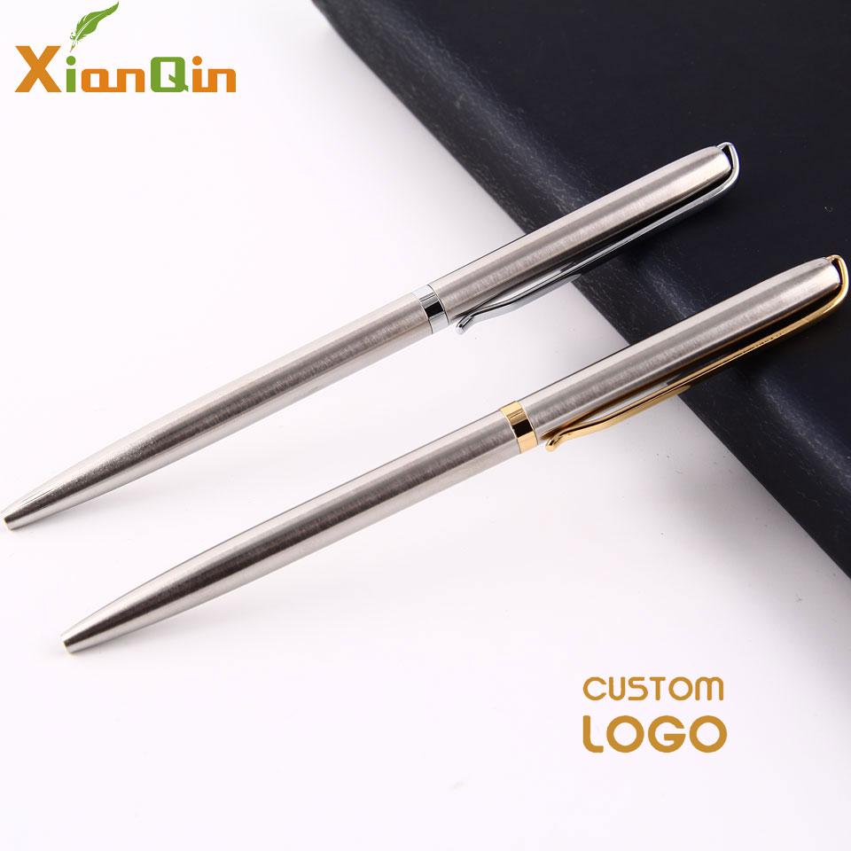 Xianqin Metal Ballpoint Pen 0.7mm Blue Black Luxury Custom Advertising Gift Pen For School Student Stationery Office Supplies