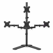 Suptek Quad Arm LCD LED Heavy Duty Monitor Stand Desk Mount Bracket 3 + 1 free Stand / Holds Four Screens up to 27