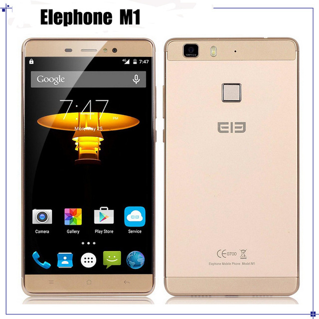 "Original Elephone M1 MTK6735A 64Bit Quad Core 4G LTE Cell Phone Andriod 5.1 5.5"" 1280*720 2GB RAM 16GB ROM 13MP"