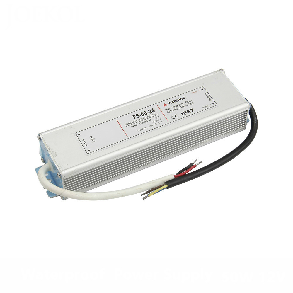 AC 170-260V To DC 5V-24V 50W Led Driver Transformer Waterproof Switching Power Supply Adapter,IP67 Waterproof Outdoor Strip led driver transformer power supply adapter ac110 260v to dc12v 24v 10w 100w waterproof electronic outdoor ip67 led strip lamp