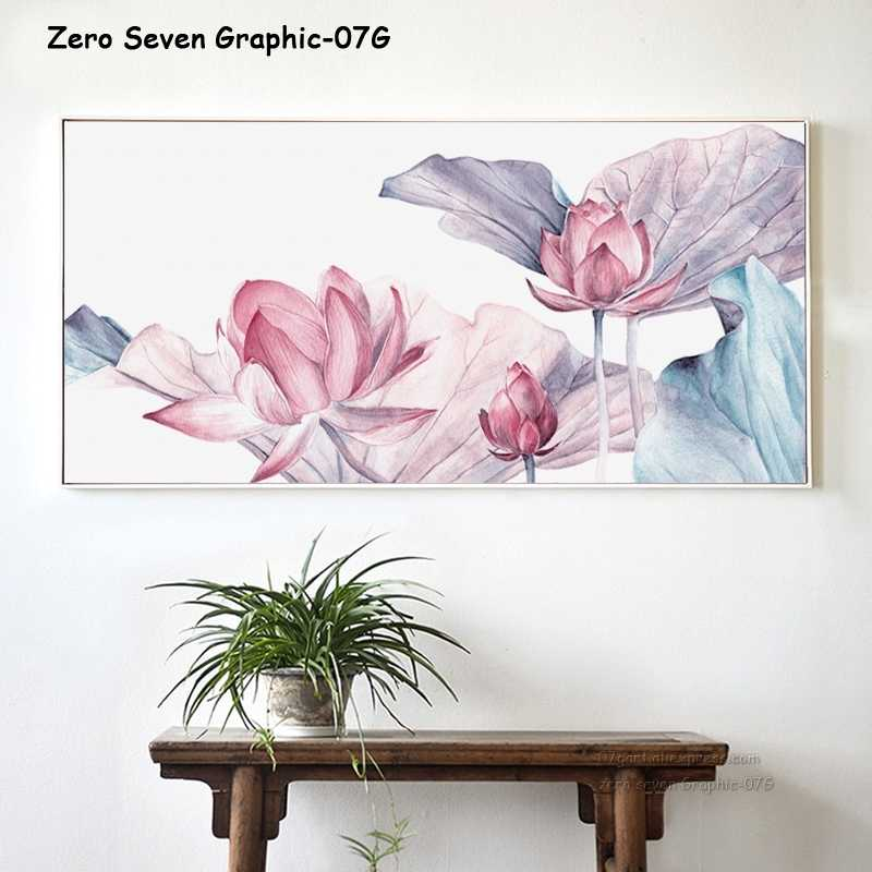 Modern Nordic Decorative Lotus Banner Canvas Painting Posters And Prints Home Art Pictures Wall Living Room Bedside Decoration
