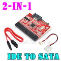 "2 em 1 SATA para IDE Converter IDE para Conversor Adaptador SATA 2.5 ""IDE 133 100 HDD CD DVD Para SerIal SATA Conversor Adaptador de 40 Pinos"