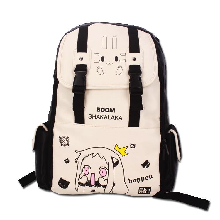 Hot Sale New Korean Cartoon Printing Casual Backpack Women Canvas Backpack School Bags For Teenager Girls