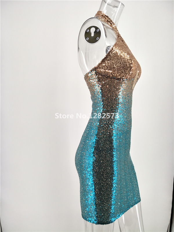 In Stock Sexy Halter Cocktail Dresses Mini Elegant Short Sequined Formal  Dress Cheap Simple Backless Sparkly Women Gown. 1 (3) 1 (2) 1 (1) ... 5c05dad61d82