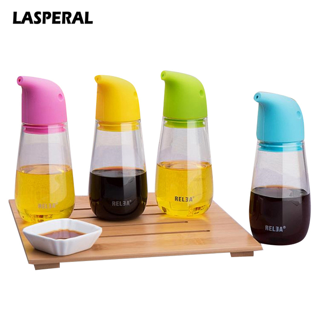 Transparent Glass Kitchen Liquid Seasoning Storage Bottles Simple Leak-proof Oil Vinegar Bottle Olive Oil Vinegar Spice Cans
