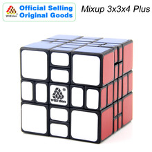 WitEden Mixup 3x3x4 Plus Magic Cube 334 Cubo Magico Professional Neo Speed Puzzle Antistress Fidget Toys For Children