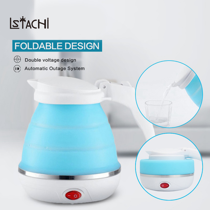 LSTACHi 0.75L Electric Kettle Silicone Foldable 680W Portable Travel Camping Water Boiler Adjustable Voltage Home  AppliancesLSTACHi 0.75L Electric Kettle Silicone Foldable 680W Portable Travel Camping Water Boiler Adjustable Voltage Home  Appliances