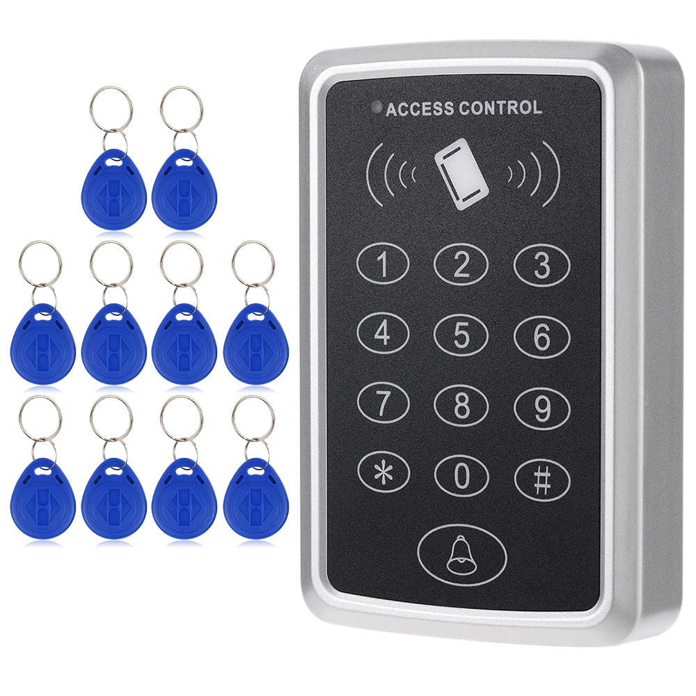 Home Security 125KHz Single RFID Card Proximity Entry Door Lock Access Control System With 10pcs RFID Keys Key Fob smart card reader door access control system 125khz smart rfid card proximity card door access control reader 10pcs rfid keys
