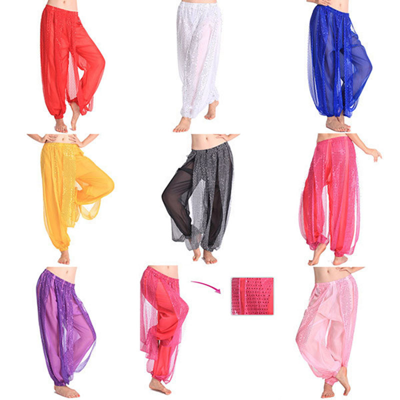 Belly Dance Pant Women's Genie Harem Pants Belly Dancing Tribal Costume Shinny Bloomers Trousers Newest