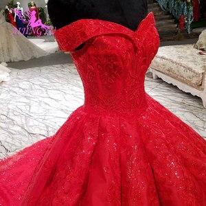 Image 1 - AIJINGYU שנהב תחרה חתונה שמלת שמלות Xxxl גודל 2021 כדורי אמא של הכלה שמלת אירוסין גדול גודל צנועה חתונה שמלות