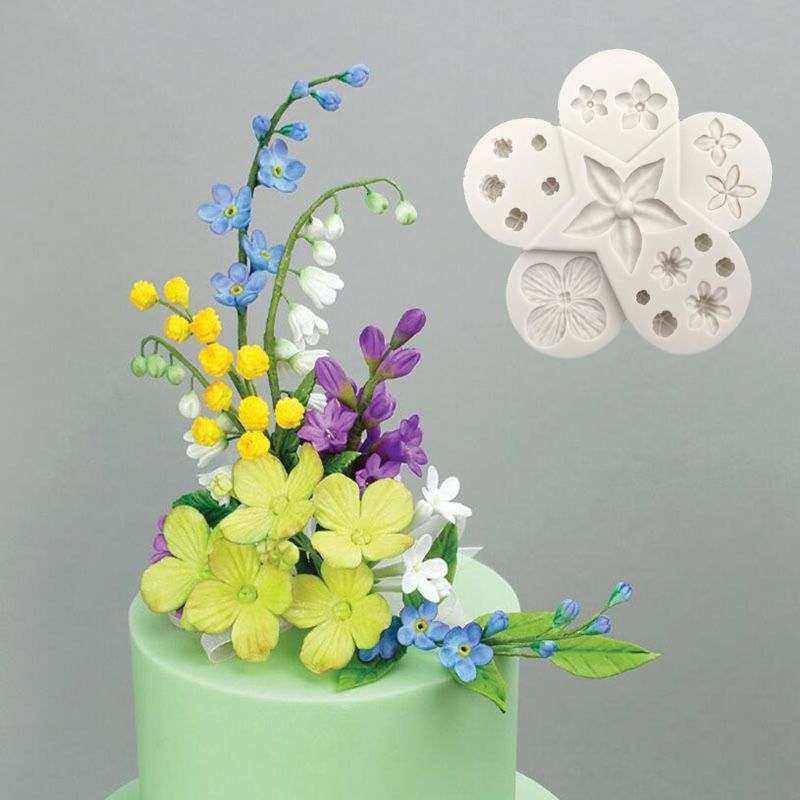 Cake Molds 3d Flower Leaf Combination Silicone Fondant Chocolate Filler Mold Cake Soap Diy Handmade Biscuit Clay Mould Baking Tool Less Expensive Home & Garden