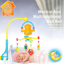 Cartoon Baby Rattle Toys 0-12 Months Crib Mobile Rotating Bed Bell With Soft Music For Infant Newborn Babies Development T