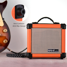IDEEAUDIO Amplificador de altavoz eléctrico MA 1, 10 vatios, portátil, de escritorio, con dos canales ajustables, Combo Amp naranja