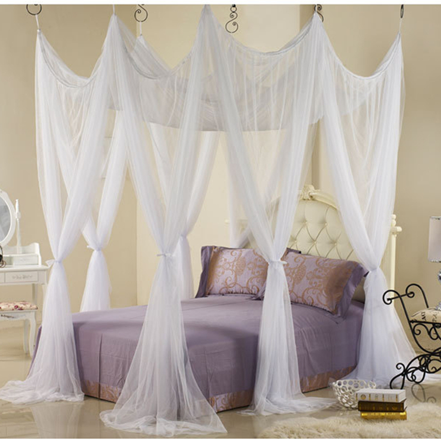 King Home Brand Net Mesh Bed Canopy Mosquito Door Screen Wedding Round Square Nets Mantle Curtains Blinds