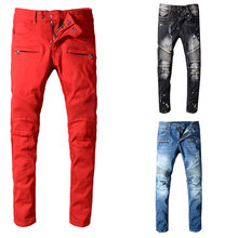 2019 New Italian Style Fashion Skinny Jeans Stretch Casual Pants Designer Classical Men High Quality