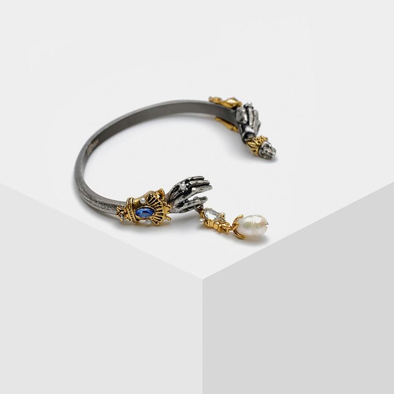 Amorita boutique Two-color skull pearl bracelet
