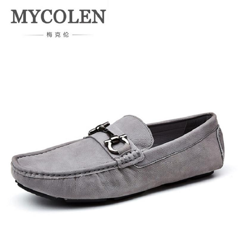 MYCOLEN Luxury Brand Men Loafers Genuine Leather Men Driving Shoes Good Quality Soft Comfortable Doug Shoes schoenen mannen npezkgc brand best quality genuine leather men flats casual shoes soft loafers comfortable driving shoes men breathable shoes