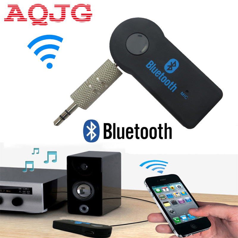 Universal 3.5mm Car Bluetooth Audio Music receiver Adapter Auto AUX Streaming A2DP Kit for Speaker Headphone car charger AQJG bluetooth aux stereo audio music receiver 3 5mm jack 4 2 edr car kit a2dp bluetooth car bluetooth car kit adapter for earphone