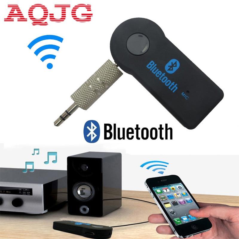 Universel 3.5mm De Voiture Bluetooth Audio Music receiver Adaptateur Auto AUX Streaming A2DP Kit pour Haut-Parleur Casque chargeur de voiture AQJG