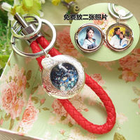 Vintage Retro Locket Keychains With Your Photo Private Custom Photo Fashion Key Chain For Women