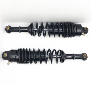 Universal 380mm 7mm spring  Motorcycle nitrogen Shock Absorber Suspension for honda yamaha suzuki all Black