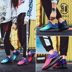 Image 4 - X Лидер продаж, фиолетовый Цветной Звезда воздушные подушки Для женщин спортивные кроссовки, кроссовки тренажерный зал обувь для него и для нее; удобные эластичные гонки женская обувь Повседневное