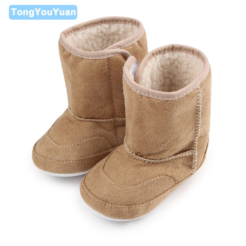 High Quality Baby Winter Boots Hard Sole Solid Six Colors Boots Baby Shoes For Boys Girls 0-15 Months