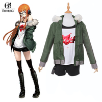 Rolecos Futaba Sakura Cosplay Costume Persona 5 Costume Anime Cosplay Brand Spring Autumn Jacket Full Sets Custom Made