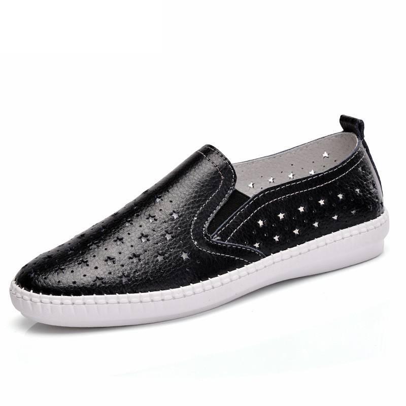 Hosteven New Summer Women's Shoes Äkta Läder Flats Skor Kvinna - Damskor - Foto 2
