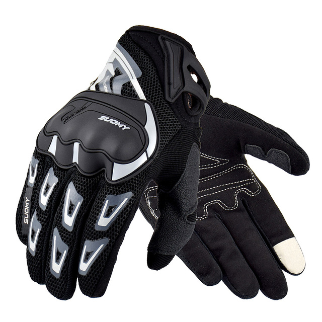 SUOMY Summer Breathable Motorcycle Gloves Touch Screen Guantes Motorbike Protective Gloves Cycling Racing Full Finger Gloves 1