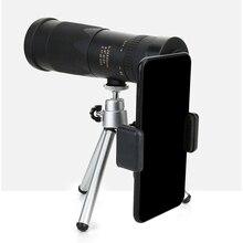 Zoom Monocular 8-24x40 Telescope HD Night vision Telescopic Spyglass Binocular Hunting Shooting Golf Tourism Mobile Phone Holder