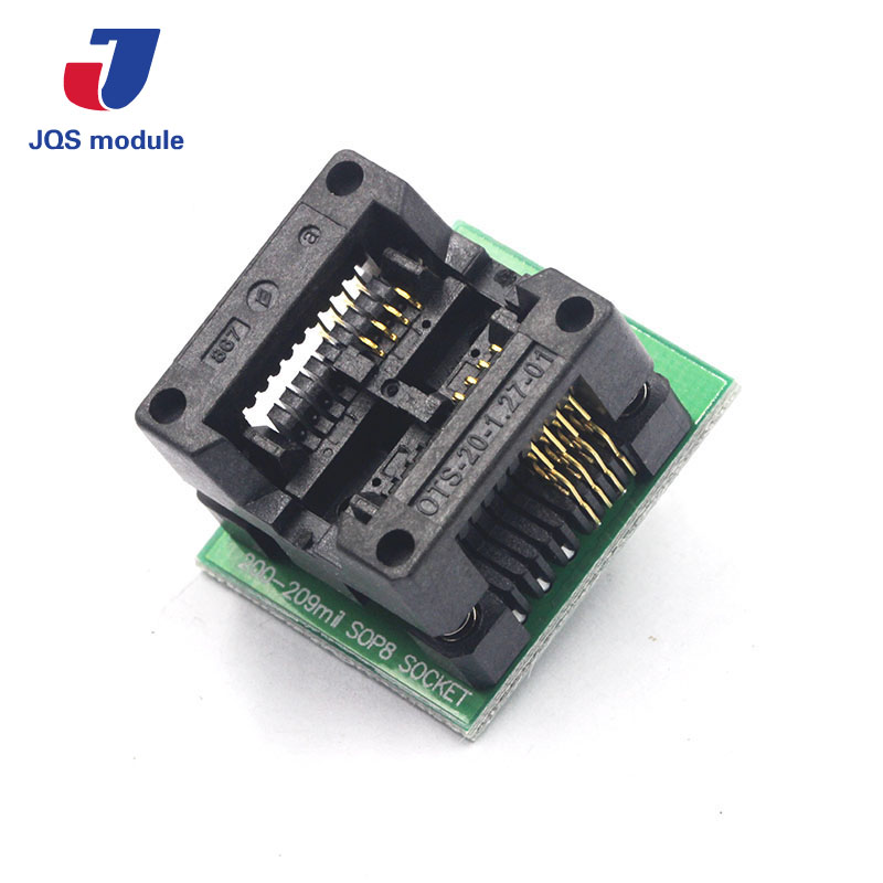 SOIC8 SOP8 to DIP8 Wide-body Seat Wide 200mil Programmer Adapter Socket запчасти для принтера yinke sop8 dip8 2 so8 soic8 enplas ic 5 4 1 27 ic programming adapter page 3