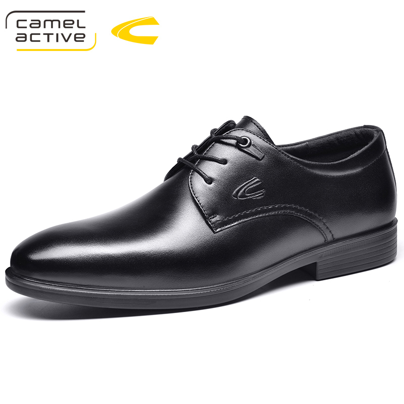 Camel Active New Designer Black Brown Brogue Shoes Genuine Leather Lace Up Men Formal Dress Oxfords Party Office Wedding Shoes все цены