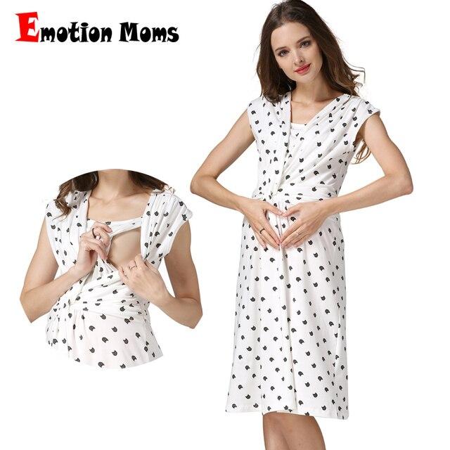 7a50508b9b93a Emotion Moms letnie ubrania ciążowe sukienka ciążowa sukienka do karmienia  piersią karmienie piersią sukienki odzież dla